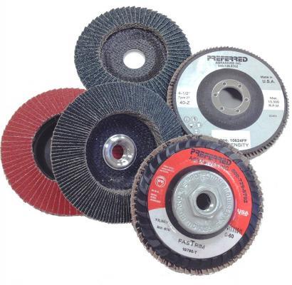 Five Norton grinding wheels